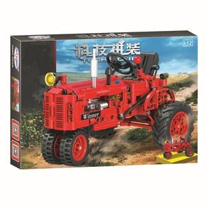 Image 4 - Technic 7070 302pcs Technic Classical Classic Old Tractor building block Brick Toys Compatible  Technic