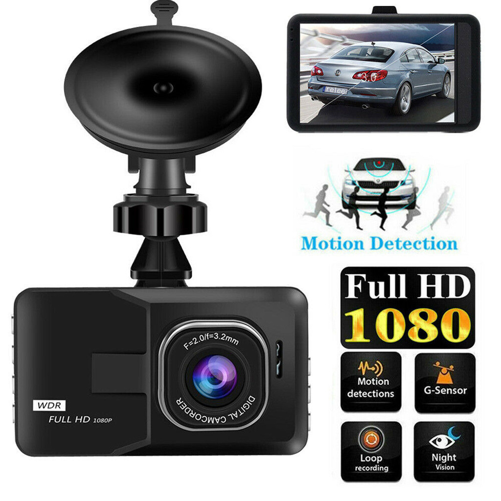 "2.4/"" Dual Camera 1080P HD Car DVR Dash Cam Video Recorder G-Sensor Night Vision"