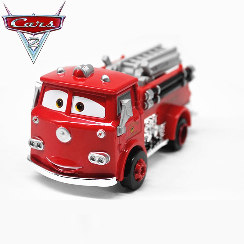 Disney Pixar Cars 2 3 Red Firetruck Metal Diecast Toy Car model for children 1:55 Loose Brand New In Stock цена