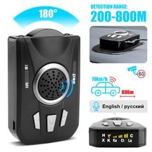 BORUiT Detector de Radar Universal para coche, escáner de banda completa, Radar de coche, aviso por voz, Detector de Control de velocidad
