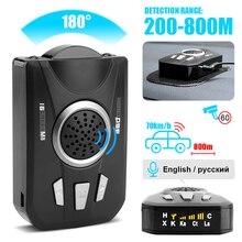 BORUiT Universele Auto Radar Detector M8 Full Band Scanning Auto Radar Voice Alert Waarschuwing Speed Control Detector