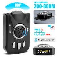 BORUiT détecteur de Radar de voiture universel M8 balayage de bande complète Radar de voiture alerte vocale avertissement détecteur de contrôle de vitesse