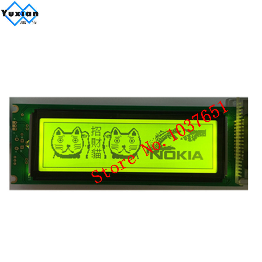 1pcs 24064 240x64 lcd display panel green screen  graphic module UCI6963 or T6963  LCM24064 11 LM24064DBY  free shipping 1pcs-in Screens from Consumer Electronics