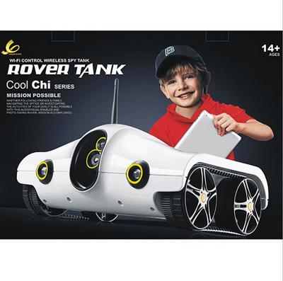 Free shipping 2015 new Wifi Controll rc toys with wifi Camera WIFI Rover Tank for iPhone/ iPad/ iPod Tank rc car