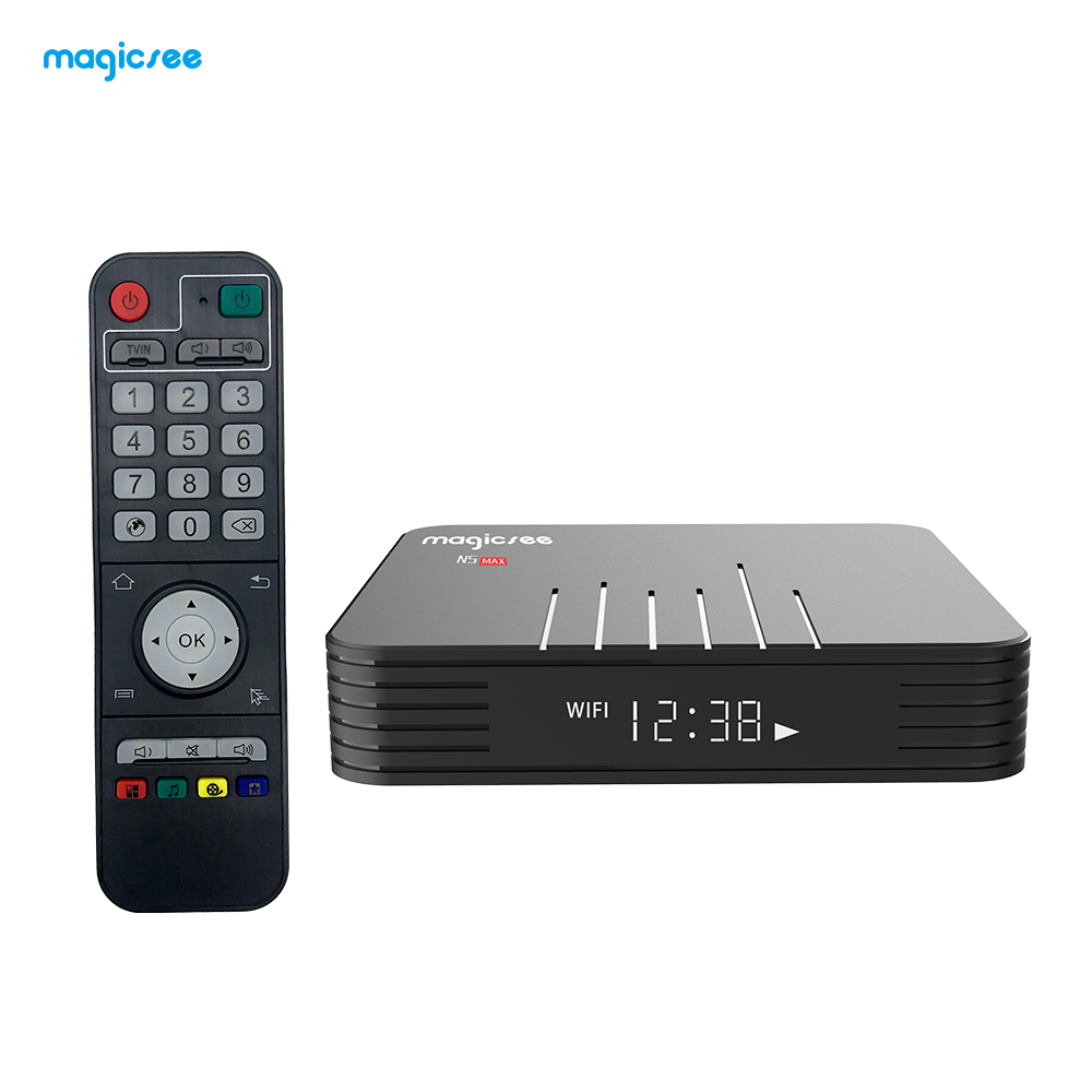 Magicsee N5 Max Amlogic S905X2 Android 9.0 TV BOX 4G 32G/64G Rom 2.4 + 5G double Wifi bluetooth 4.1 Smart Box 4K LAN 1000 décodeur - 6