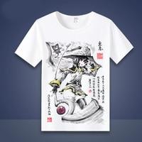 Neue Kono Subarashii Sekai ni Shukufuku wo Megumin Cosplay T-Shirt Anime Aqua tuschmalerei stil t-shirt Mode Männer Frauen Tees