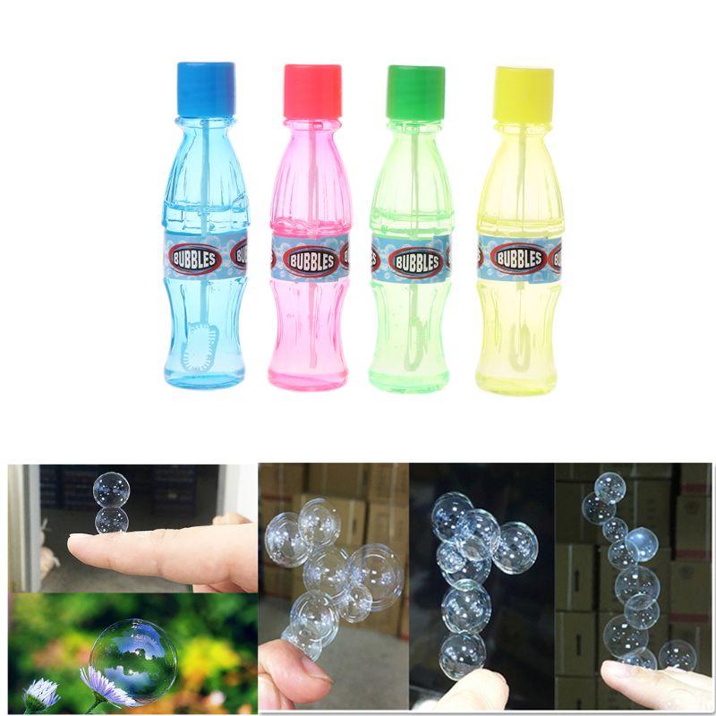 Super Magic Bubble Soap Cola Bottles Won't Burst Bubbles Blower Magic Toy Wedding Birthday Party Favors Bubbles Maker Kids