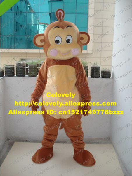 Novelty & Special Use Enthusiastic Likable Brown Little Monkey Mascot Costume Mascotte Small Monkey Adult With Big Eyes Purple Cheeks Fancy Dress No.989 Free Ship Buy One Get One Free