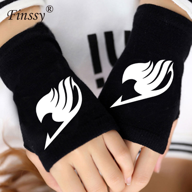 2018 Anime Fairy Tail Danganronpa Finger Cotton Knitted Wrist Gloves Mittens Women Cartoon Accessories Cosplay Fingerless Gloves With The Best Service Apparel Accessories