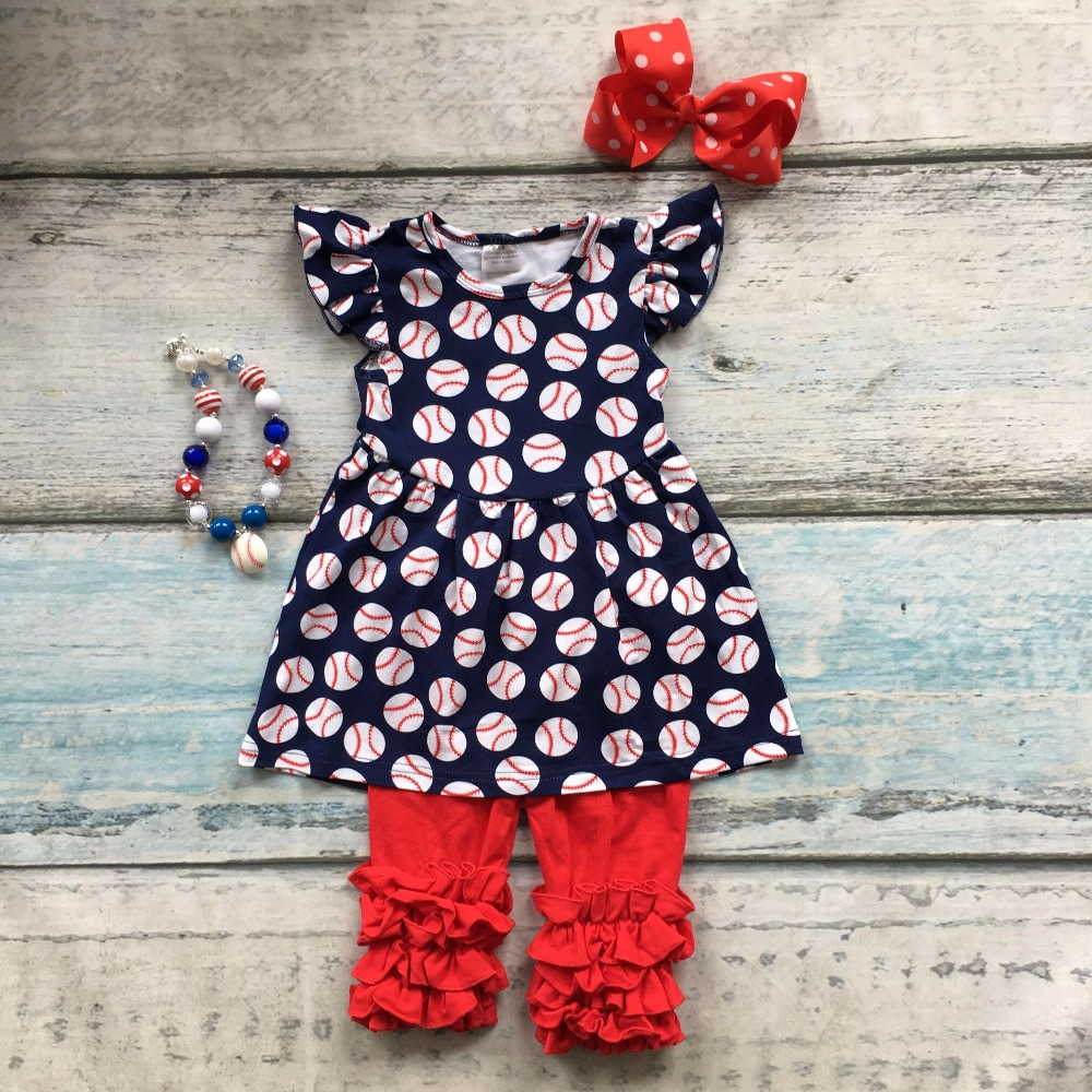 kids Baseball season clothes girls baseball clothing baby girls baseball boutique outfits with matching necklace and bows kids clothes girls boutique clothing girls back to school outfits girls summer outfits with matching headband