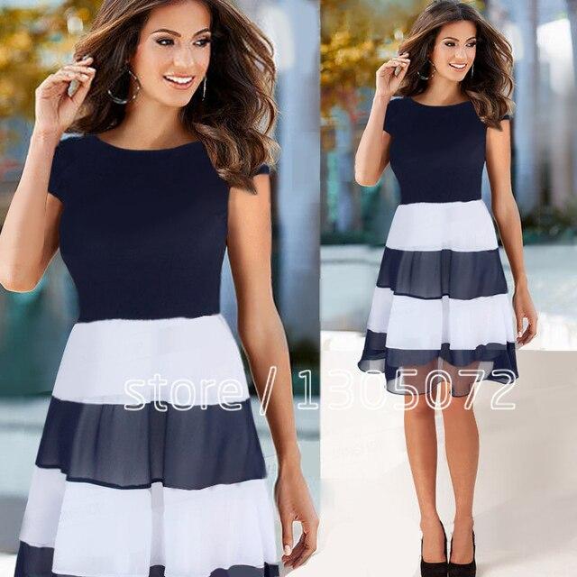 Jersey Chiffon Dress