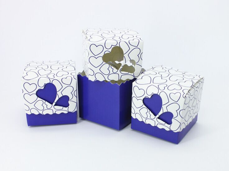 50pcs Lot Royal Blue Wedding Candy Box Sweet Heart Favors And Gifts Baby Shower Souvenirs Christmas Decorations Present In Gift Bags Wring