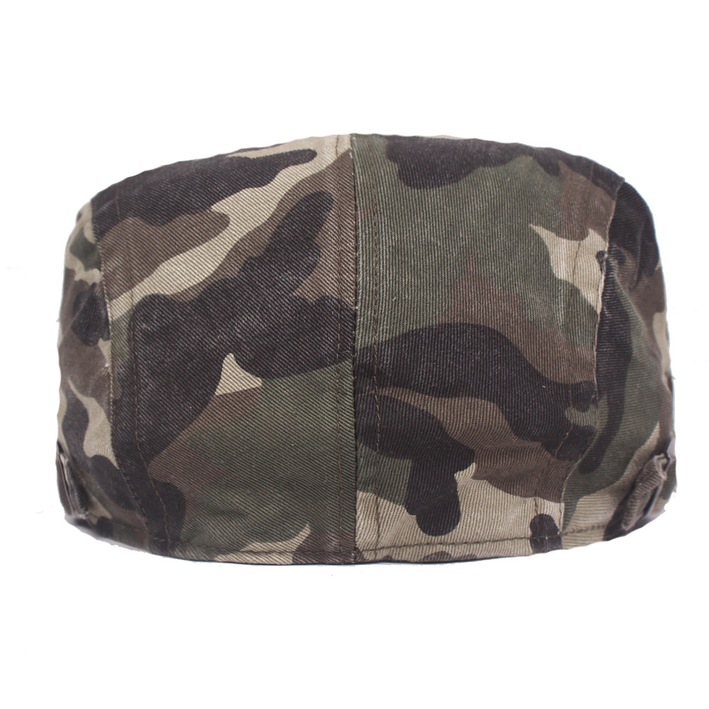 Men Camouflage Cap Summer Flat Newsboy Cotton Gatsby Sun Hat Casual Camo Printed Cap Male Adjustable Beret Cap