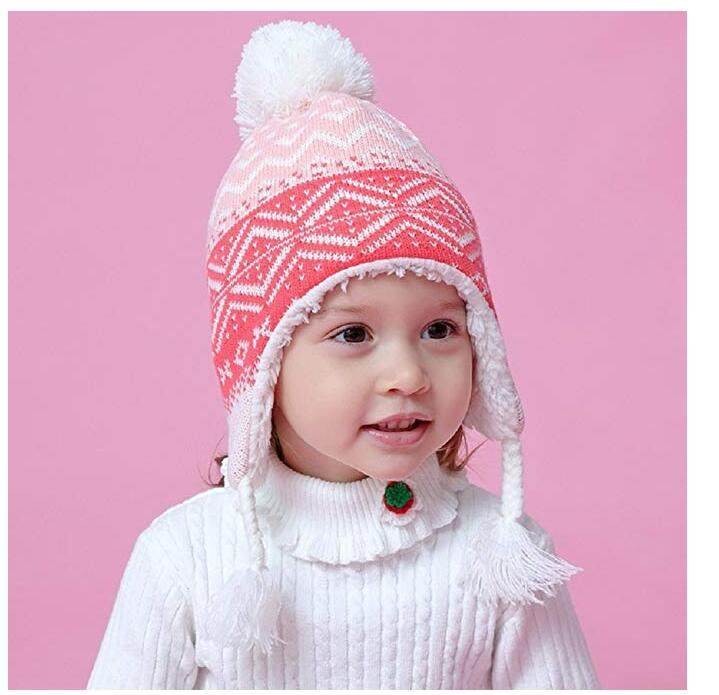 fab948c3d Acrylic kintted children's russia hat and cap winter warm bomber hat  chapeau kids bonnet ushanka for baby boys girls 0-3 years