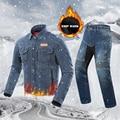 DUHAN мотоциклетная куртка мужская куртка для верховой езды Chaqueta  джинсы для мотокросса  ветрозащитная мотоциклетная куртка  защитное снаряж...
