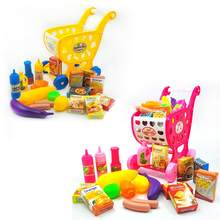 Play House Children Simulation Shopping Cart Toy Supermarket Trolley(China)