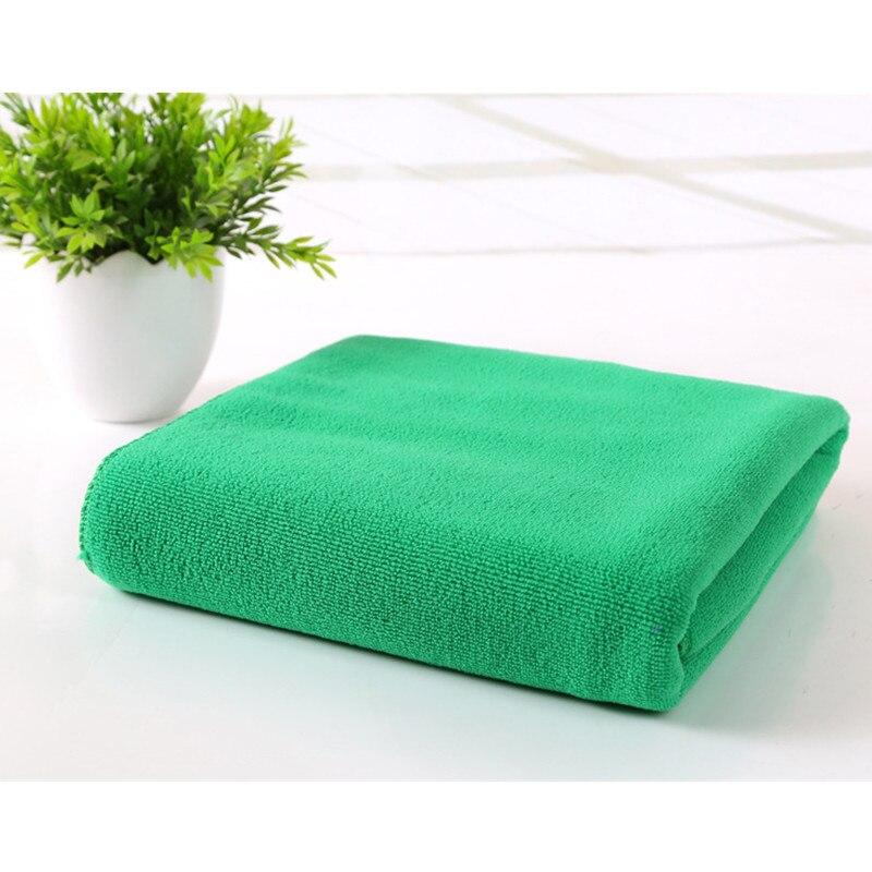 Wholesale Microfiber Bath Towels: Wholesale Solid Dark Green Soft Practical Absorbent Bath