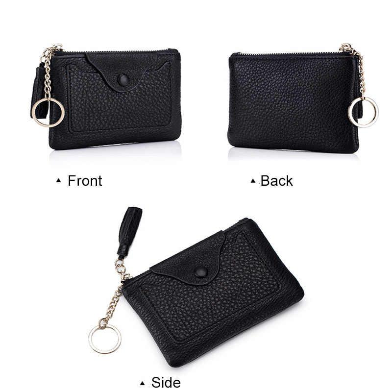CICICUFF moda monety kiesy prawdziwej skóry kobiet portfele kobiet małe Portomonee Lady portfel Mini portmonetka na drobne dla dziewczyn nowy