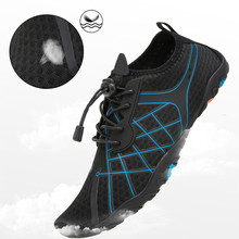 лучшая цена Black Outdoor Men Shoes Aqua Swimming Footwear Seaside Walking Sapatilhas Cheaper Breathable Quick Dry Beach Five Fingers Shoes