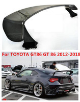 Carbon Fiber/ABS Car Rear Wing Trunk Lip Spoiler Fit For TOYOTA GT86 GT 86 2012 2018 BY EMS