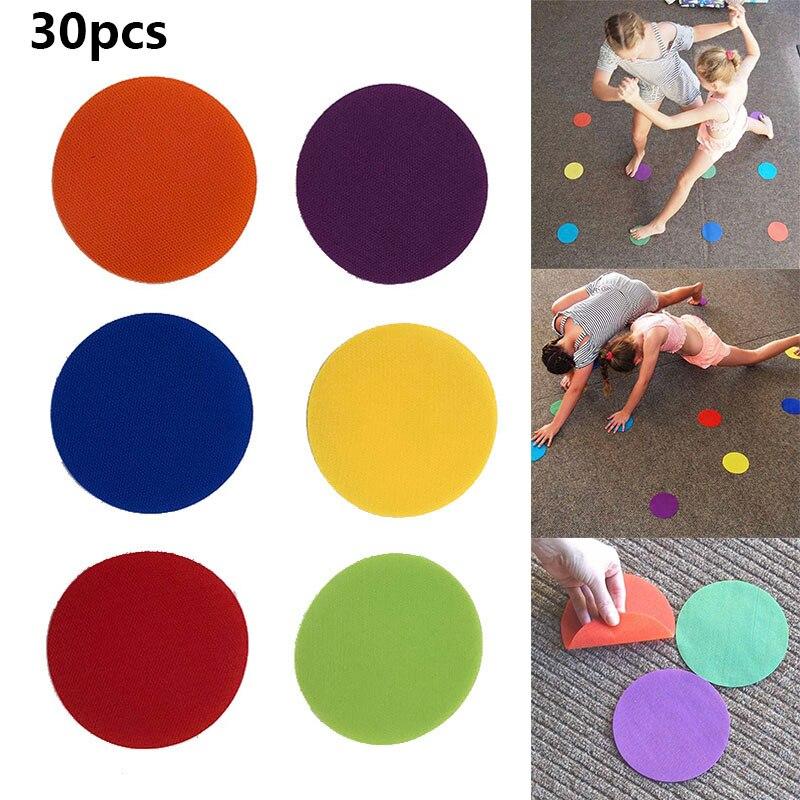 30Pcs/Set Multifunctional Round Carpet Markers For Teachers Early Educational Kindergarten Supplies Hogard JA03