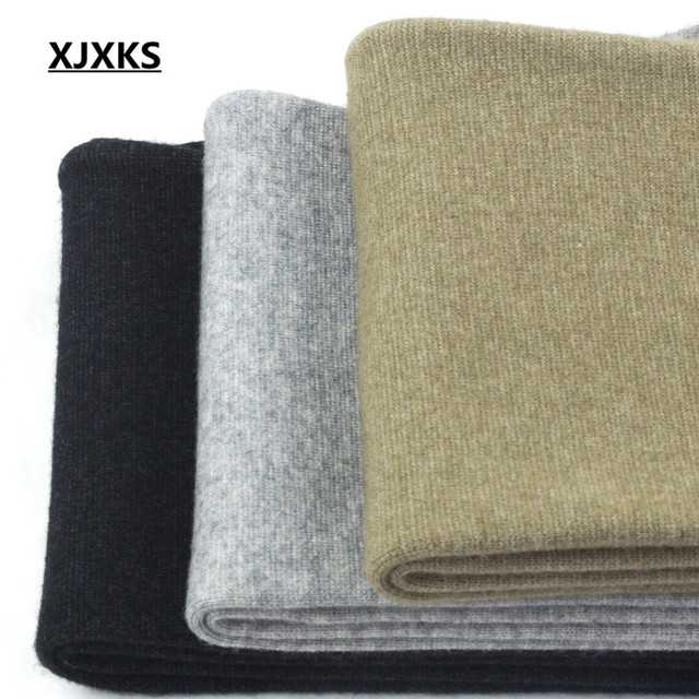 XJXKS Casual 100% Wool Knitted Men's Leggings Elasticity Autumn And Winter Warm M-XXL Comfortable Men Pants 3 Colors 6