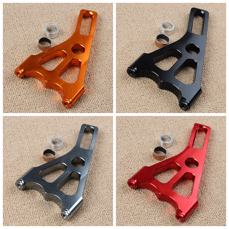 general Motorcycle Scooter CNC Rear Brake System Adapter Bracket Fit 82mm Brake Calipers With 220mm Brake Discs For Yamaha Honda keoghs real adelin 260mm floating brake disc high quality for yamaha scooter cygnus modify