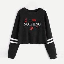 New Women Hoodies Pullover Valentine Korean Hoodie Rose Printing Clothing Sweatshirt Street Wear Tops