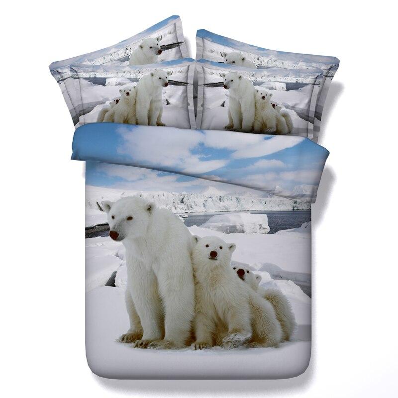 Бесплатная доставка через UPS 3D Медведь/тигр/Лев/Слон/Динозавр 5 шт. постельных принадлежностей с начинкой Twin /Полный/Queen/King/super king size