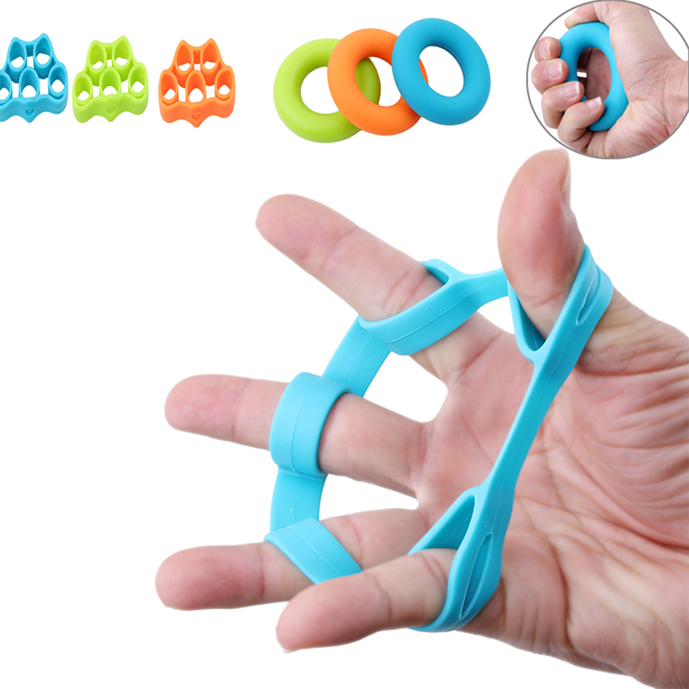 6pcs Finger Resistance Bands Rubber Bands Elastic Band Training Stretcher Exercise Hand Gripper Strengthener Fitness Equipment