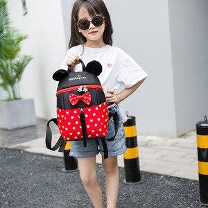 Image 3 - 2019 yeni Mickey Mouse Minnie şekli kız erkek sırt çantası çocuk çantası okul karikatür çocuk sevimli anaokulu kreş kitap çantası hediye