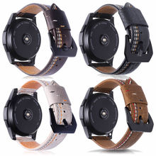22mm Leather Watch Band for Samsung Gear S3 Frontier/Classic Strap for Huawei Amazfit Pace/Stratos Bracelet