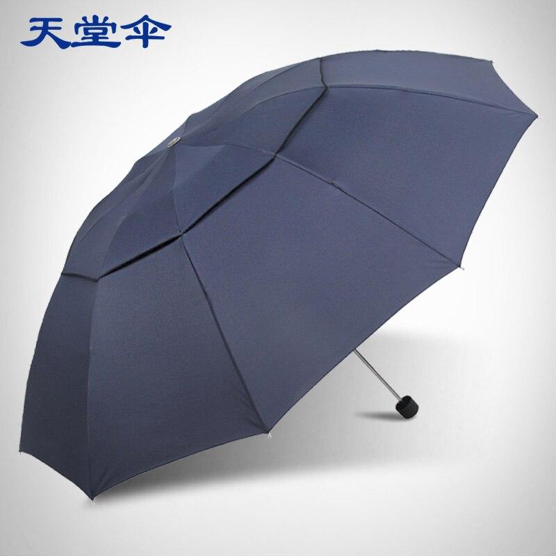 Paradis parapluie coupe-vent parapluie créatif pliant parapluie double usage hommes parapluie double vent augmenter durable eau repe