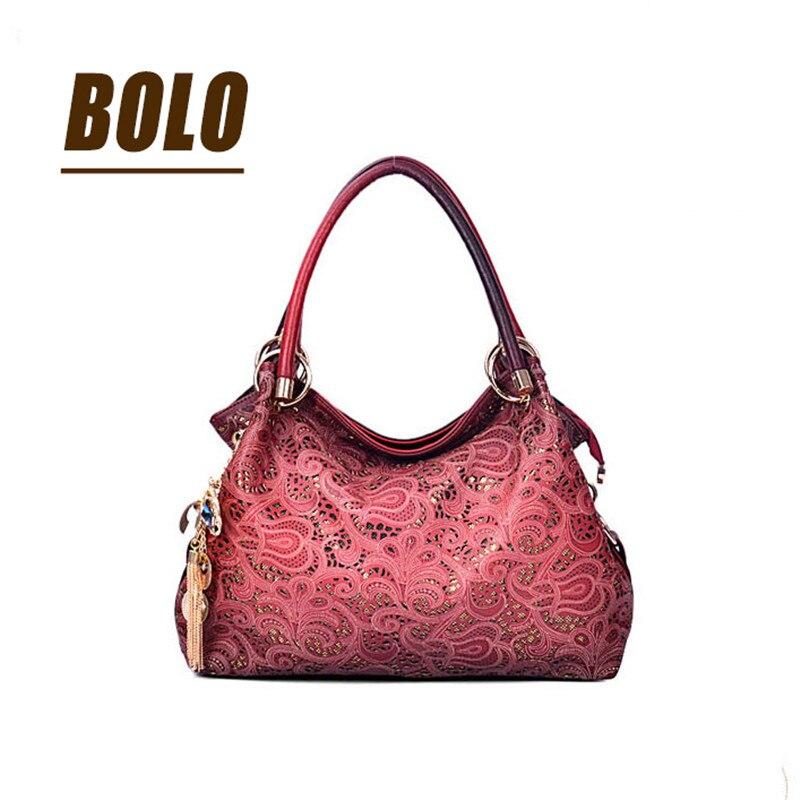 BOLO Brand!Casual PU Leather handbag <font><b>bag</b></font> fashion leisure shoulder hollow out a woman messenger <font><b>bag</b></font> dinner <font><b>packages</b></font>