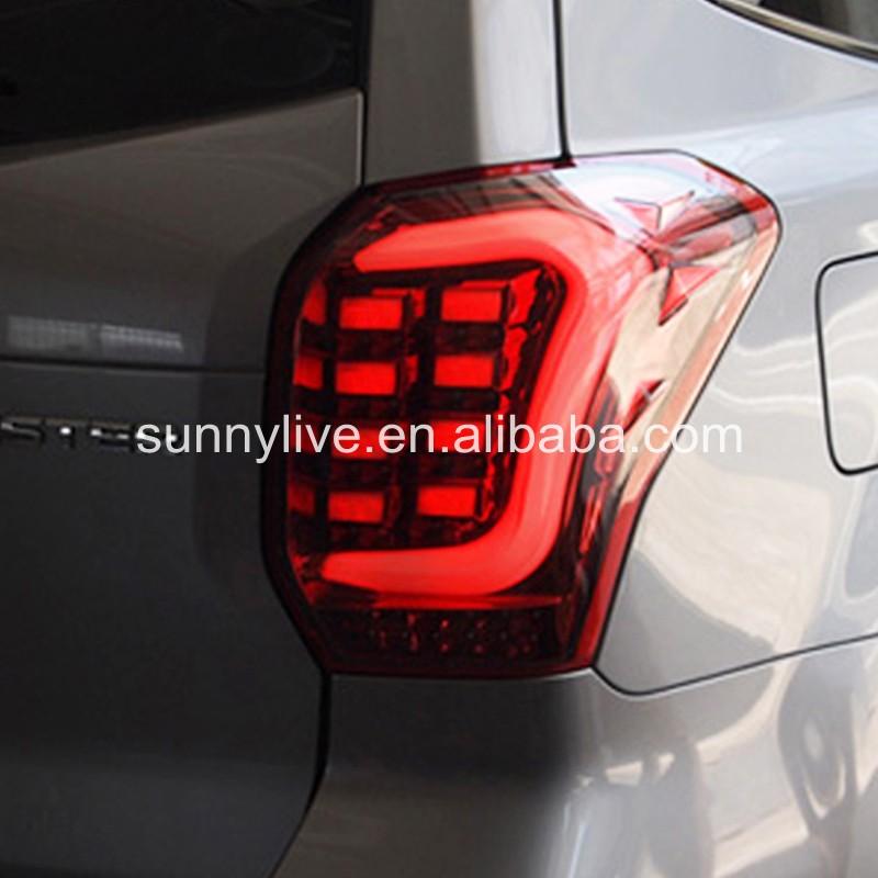 2013 2015 ear for Subaru Forester LED Strip Rear Light Red white TW