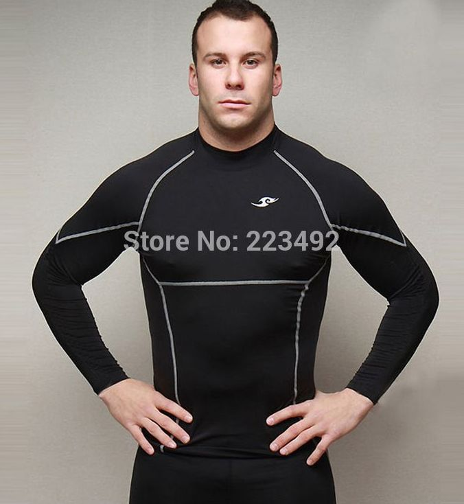 2016 T-shirt tights line speed drying fitness clothing long-sleeved T-shirt