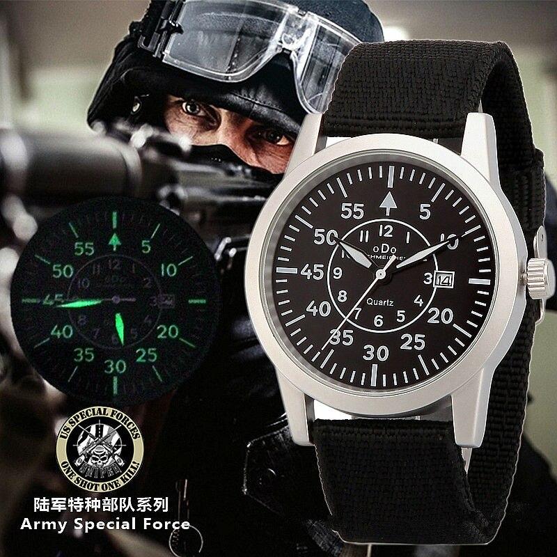 Original Men Fashion Nylon Stainless Steel Calendar Luminous Military Watch Women Casual Waterproof Army Sports Wristwatches