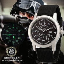 Original men fashion nylon stainless steel calendar Luminous Military Watch women casual waterproof army sports wristwatches