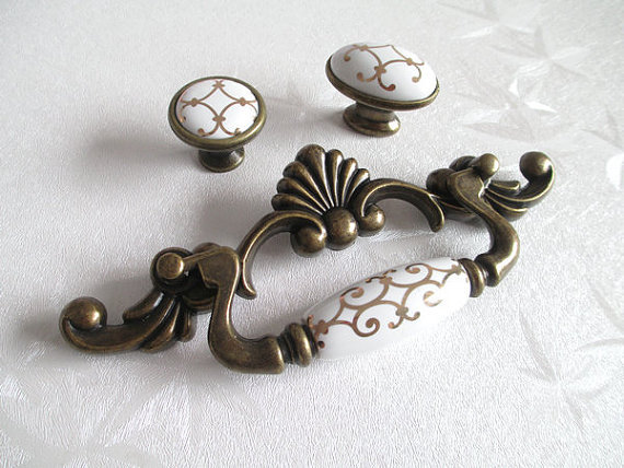 3.75 Drawer Pull Handles Dresser Knob Pulls Handles Antique Bronze Furniture Hardware Kitchen Cabinet Door Handle Pull