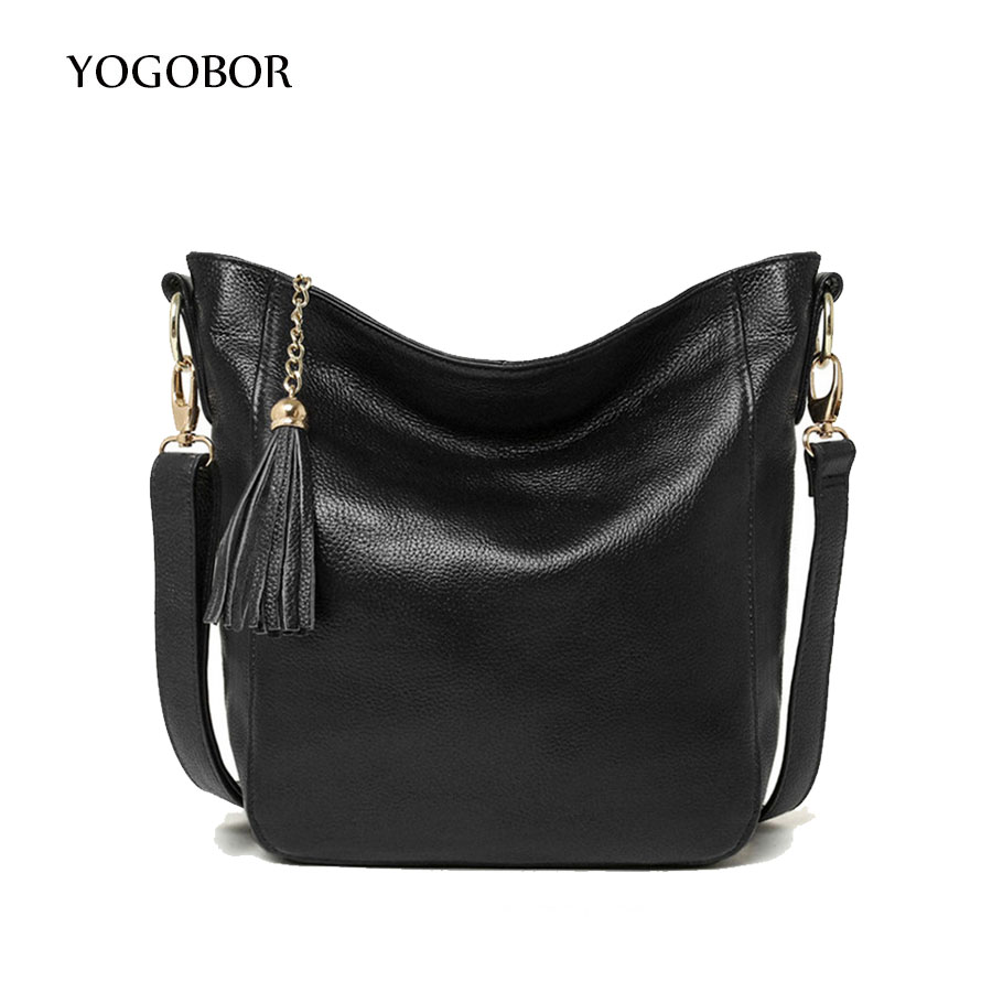 2017 New arrival leather handbags fashion tassel bucket shoulder bag genuine leather cross body bags brand women messenger bags new arrival fashion women leather tassels handbag cross body single shoulder bucket bag lady girls vintage messenger bags bolsa