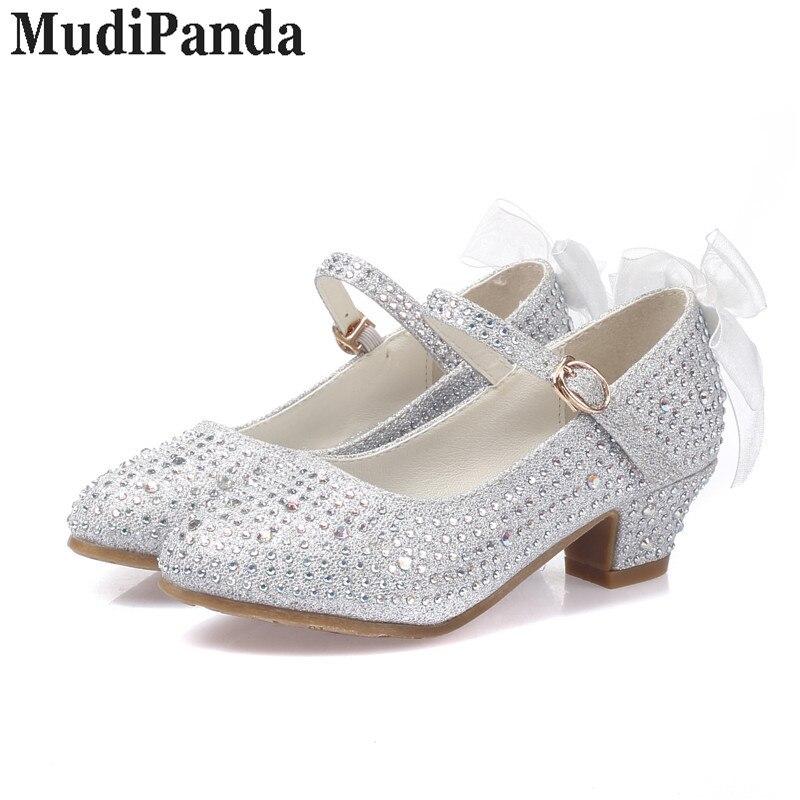 MudiPanda sandały dla dziewczynek dziecięce wysokie obcasy - Obuwie dziecięce - Zdjęcie 3