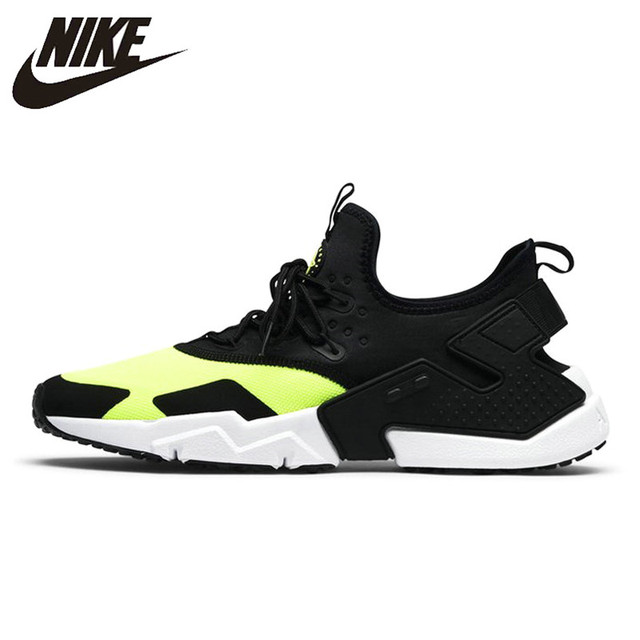 f0d7ece75134 ... promo code nike air huarache mens running shoes black fluorescent green  color comfort breathable sneakers shoes