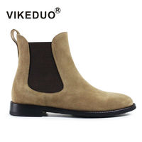 VIKEDUO In 2017 The New Pure Handmade Comfortable Against Velvet Leisure Men S Boots