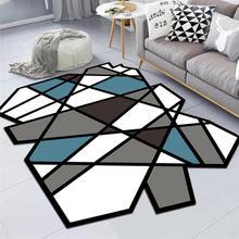Скандинавский геометрический Коврик для гостиной, домашний декор, ковер для спальни, современный необычный ковер, диван, журнальный столик, напольный коврик, коврики для Кабинета