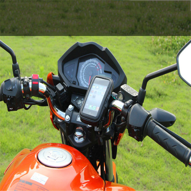 Bicycle Motorcycle Phone Holder Support For Motor Stand Bag For Most Of Smartphones GPS Bike Holder Waterproof Cover Case