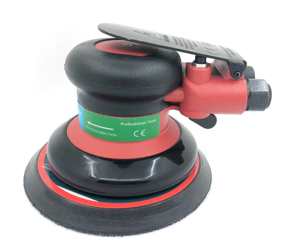 Pneumatic Sanders Air Tools Random Palm Orbital Sander Daul Action Polisher 5 Inch Circle Round Pad 125mm 41301 hilda 5inches random orbital air for palm sander
