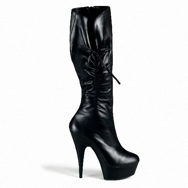 ФОТО Classics Black 15cm ultra high heels boots women's platform boots shoes 6 inch Sexy knee High Heel Boots Dance shoes