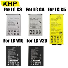 2019 KHP Original Phone Battery For LG G3 G4 G5 V10 V20 Battery BL-53YH BL-51YF BL-42D1F BL-45B1F BL-44E1F Batteries oraco mx20001 bl
