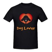 RTTMALL O Neck Short Sleeve Dog Lover Occation Guys T Shirt Top Designer Cotton Undershirt For