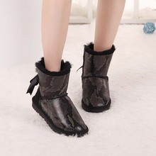 Top Quality 2017 New Arrival Women Boots 100% Genuine Sheepskin Snow Boots Natural Fur Winter Warm Women Shoes